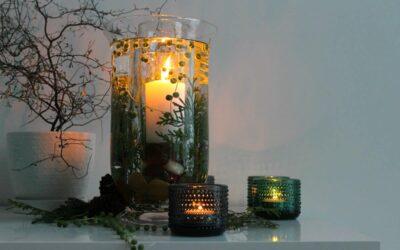 Lumottu vedenalainen kynttilä