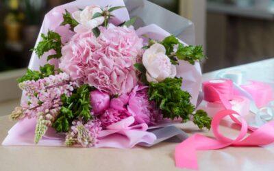 Pinkkien kukkien hehkua
