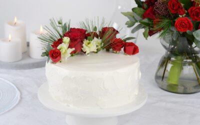 Oikeat kukat kruunaavat kakun