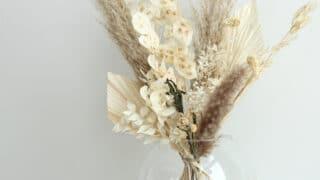 Vaalea kuivakukkakimppu - upea katseenvangitsija sopii moneen kotiin